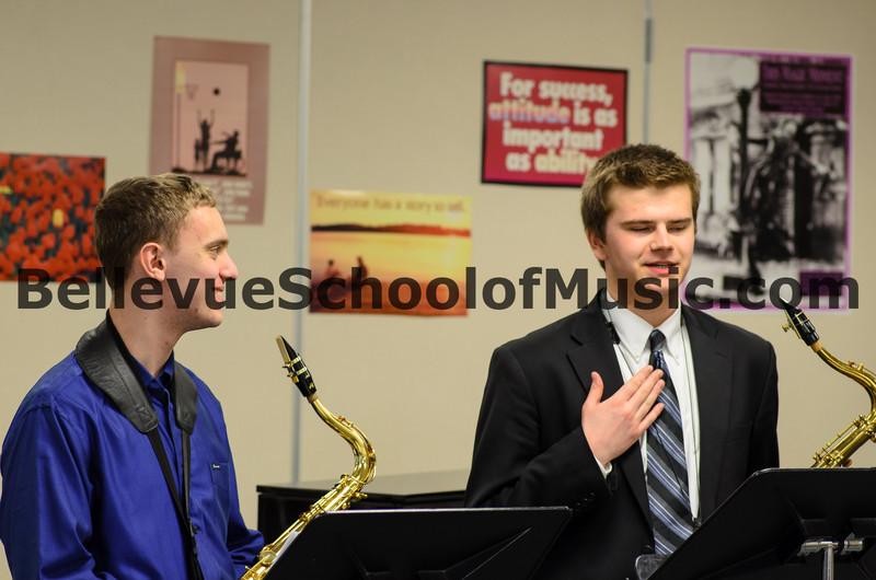 Ben and Spencer Newport High School Saxophone Duet