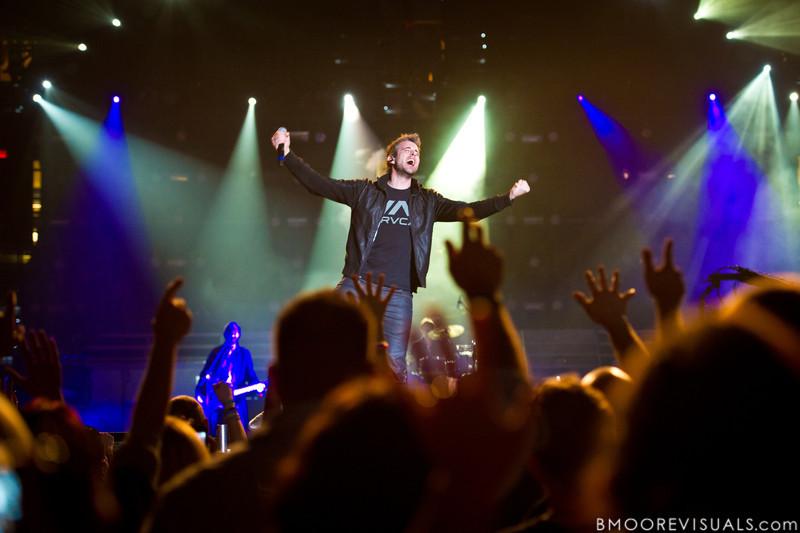 Matt Hammitt of Sanctus Real performs on January 14, 2011 during Winter Jam at Tampa Bay Times Forum in Tampa, Florida
