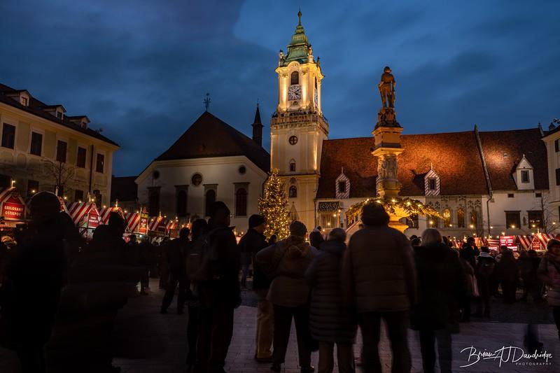 Christmas lights in Bratislava