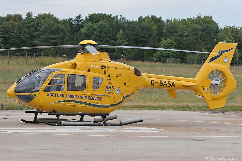 G-SASA EC135T2 Scottish Ambulance Service @ Inverness Scotland 16Jul06