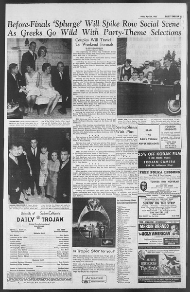 Daily Trojan, Vol. 54, No. 106, April 26, 1963
