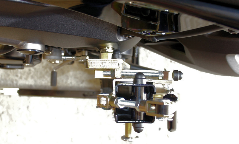 Bursig Motorcycle Side Lift Stand for the Multistrada 1200 - See HERE 10/16: Bike up on the stand