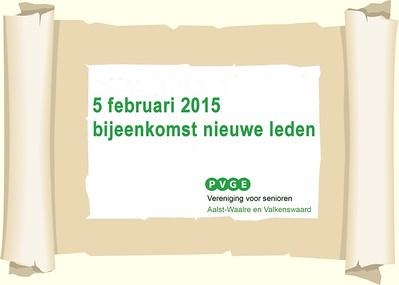 2015-0205 PVGE bijeenkomst nieuwe leden