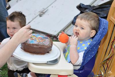 Joshua's first cake