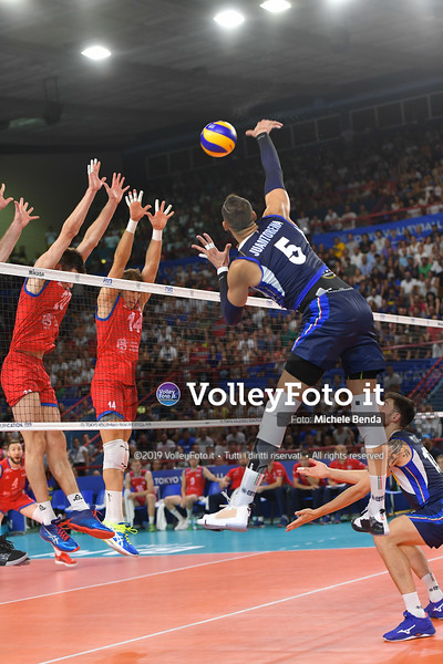 ITALIA vs SERBIA, 2019 FIVB Intercontinental Olympic Qualification Tournament - Men's Pool C IT, 11 agosto 2019. Foto: Michele Benda per VolleyFoto.it [riferimento file: 2019-08-11/ND5_7462]