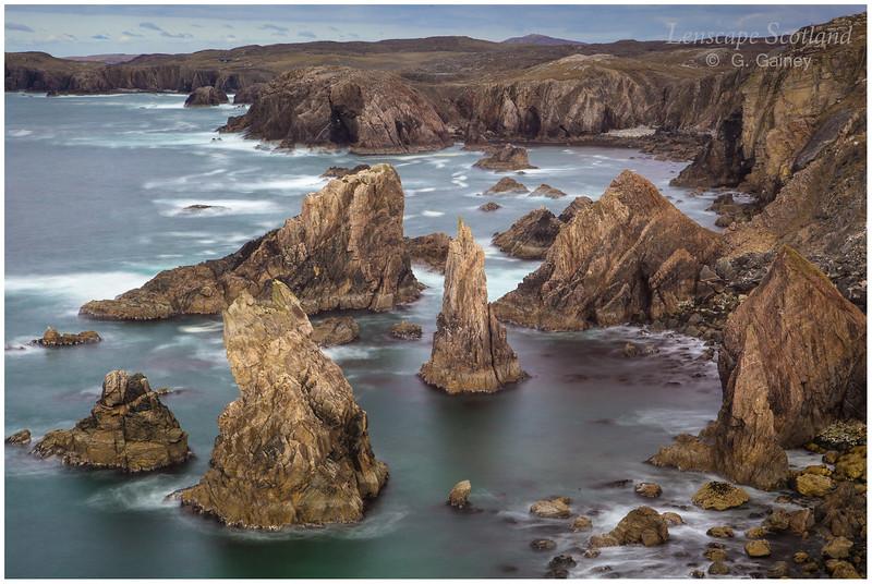 sea stacks at Mangurstadh on the Isle of Lewis