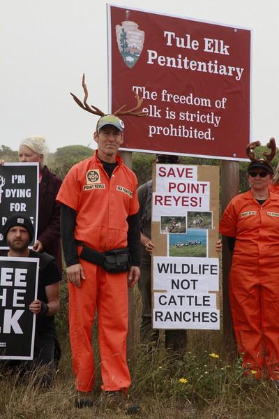 Tule Elk Protest PRNS July 3 2021