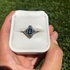 1.41ctw Art Deco Style Aqua and Diamond Dinner Ring 32