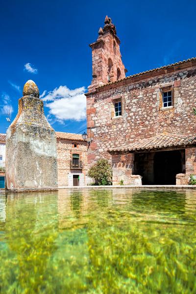 Drinking trough, town of La Barbolla, province of Guadalajara, Spain.