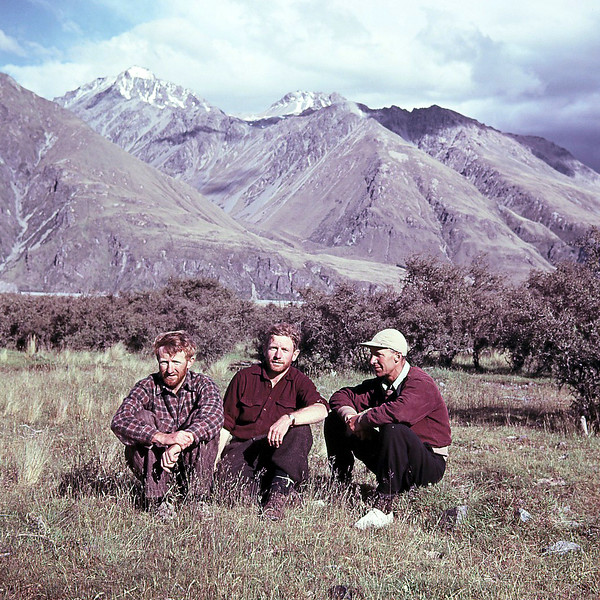 1953 Frank Austin, JER Mathews and Barney Butchers approaching Mt Cook from eastern side.jpg