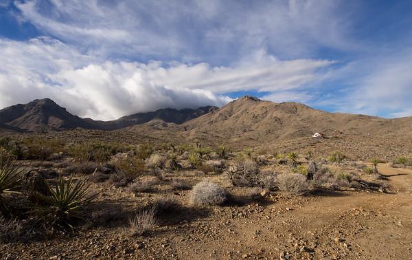 Providence Peak, Providence Mine, and Hilltop House in Mojave Preserve  1.31.15 & 2.1.15