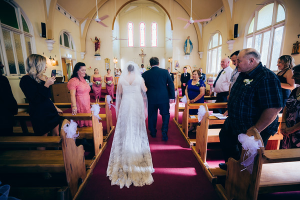 Wedding ceremony at Roman Catholic Parish of Kangaroo Point