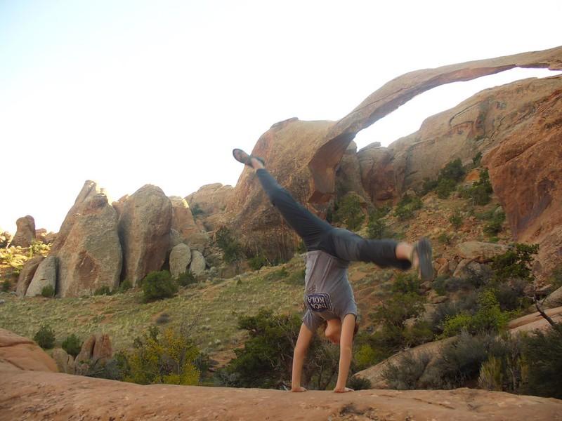 Stacee Calderon - Landscape Arch, Moab, UT - 10/2008