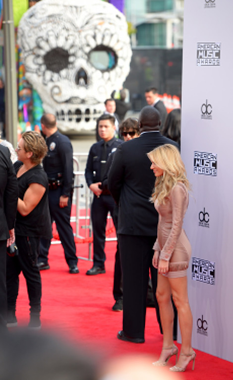 . Morgan Stewart arrives on the red carpet at the 2014 American Music Awards  at the Nokia Theatre in Los Angeles, California on Sunday November 23, 2014. (Photo by David Crane / Los Angeles Daily News)