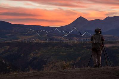 San Juan Range, CO at Sunset