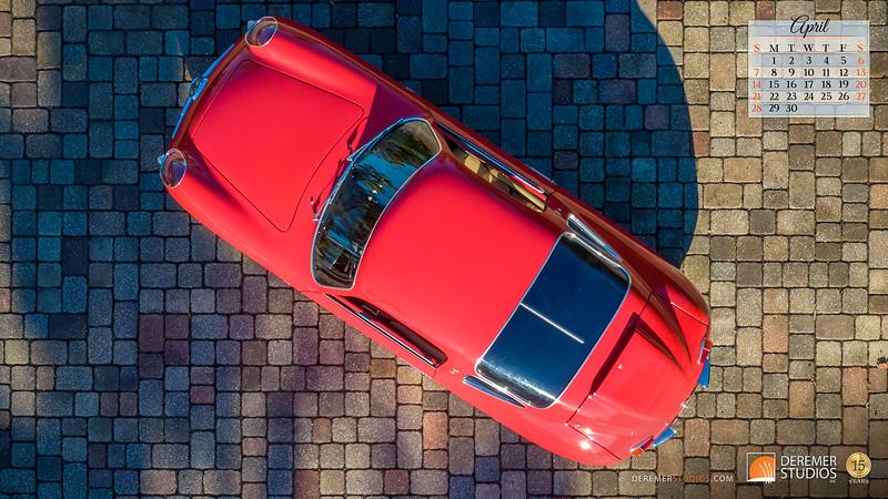 2019 Calendar - Cars 04 April - Deremer Studios LLC