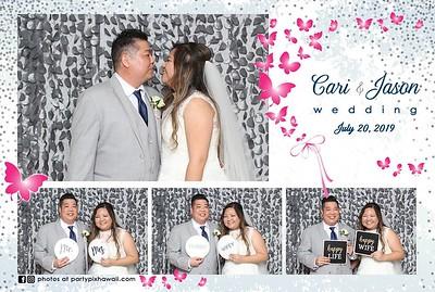 Cari & Jason's Wedding (Mini LED Open Air Photo Booth)