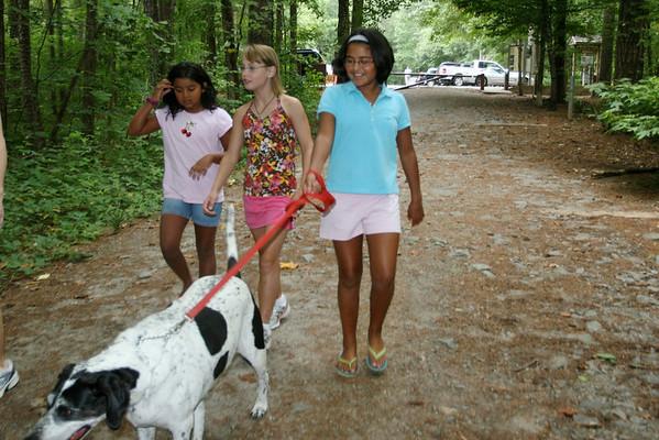 Liz, Jackie and Marina at Sope Creek
