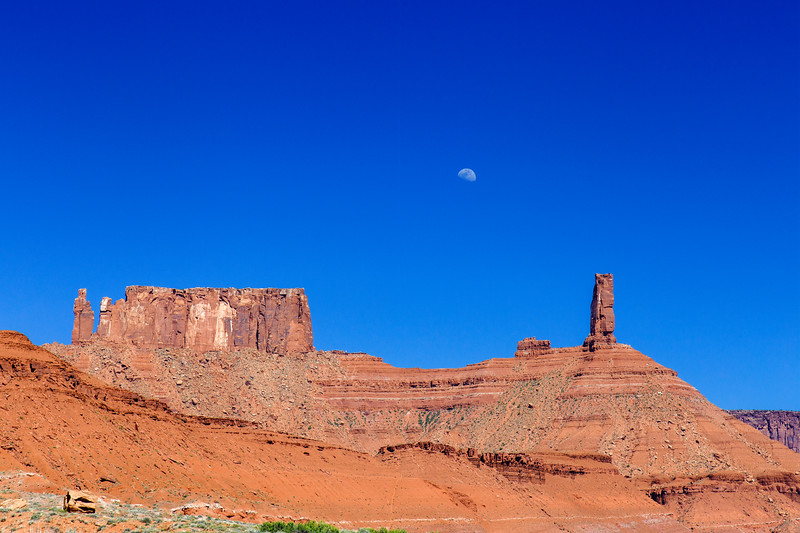 Moon Over Castle Valley