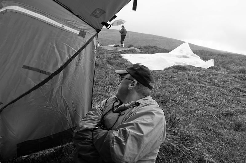 Ian takes a tentative peek towards Bridgend.