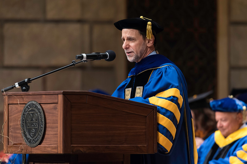 UR President Richard Feldman makes remarks. // University of Rochester School of Nursing Commencement, Kodak Hall at Eastman Theatre May 17, 2019.  // photo by J. Adam Fenster / University of Rochester