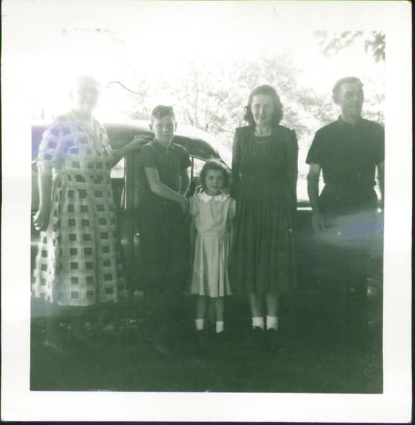 Inga's aunt (far left),