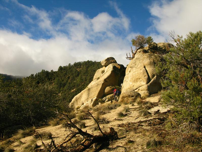 cool rocks along the ridgeline