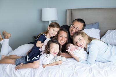 Newborn Devyn and her family at home in La Jolla 03/27/2017