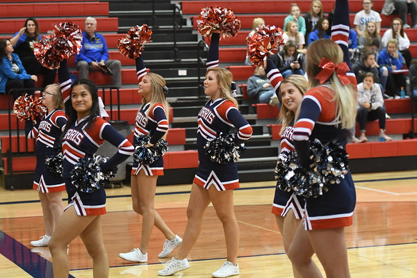 Cheer at District Volleyball