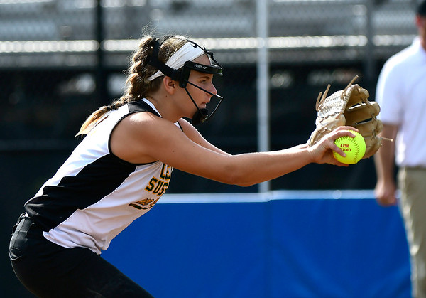 7/26/2018 Mike Orazzi | Staff Delaware's Camryn Ehlers (8) during the Little League Eastern Regional Softball Tournament at Breen Field in Bristol Thursday.