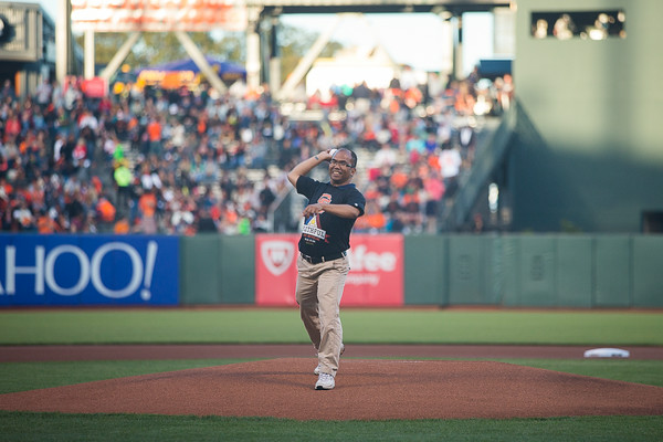 Filipino Heritage Night 2014: Al Perez First Pitch at AT&T Park
