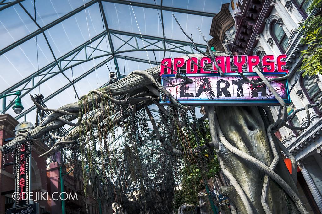 Halloween Horror Nights 8 - Apocalypse EARTH scare zone