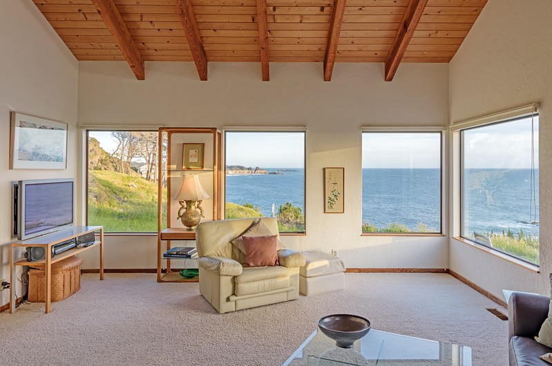 Living Room with Views of Gualala Point