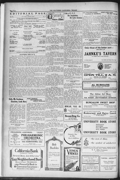 The Southern California Trojan, Vol. 12, No. 34, November 30, 1920