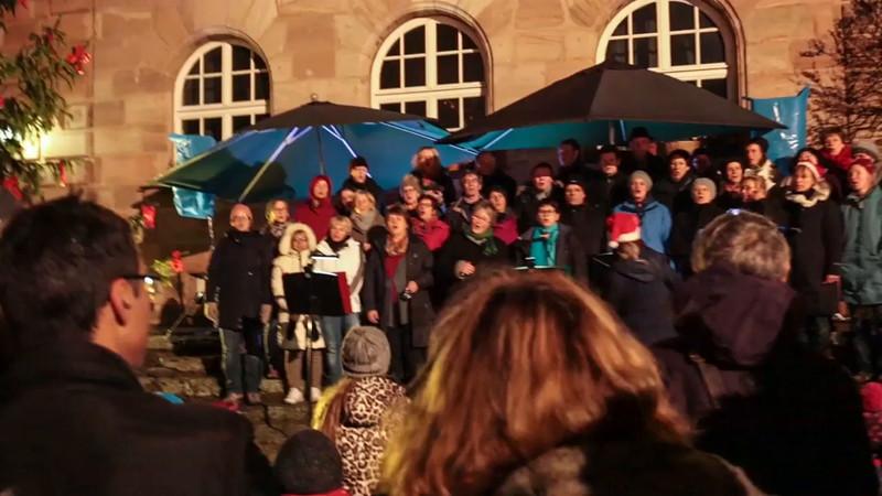 Hauptstadtchor Nürnberg, Weihnachtsmarkt Zeltner Schloss am 29.11.2015