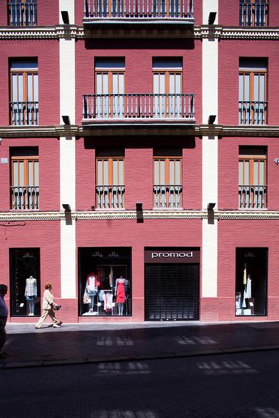 Facade in downtown, Seville, Spain