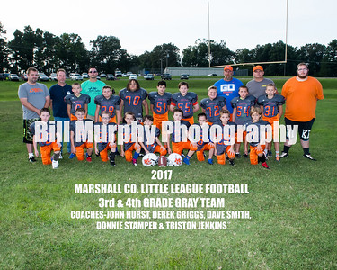 2017 3rd & 4th Grade Gray Team, Marshall Co. Little League Football