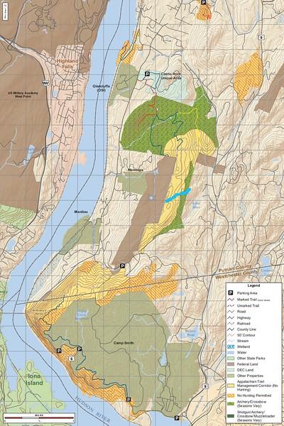 Hudson Highlands State Park Preserve (Hunting Map - North)