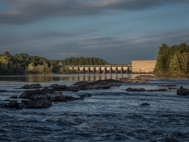 Below the Holcombe Flowage Dam