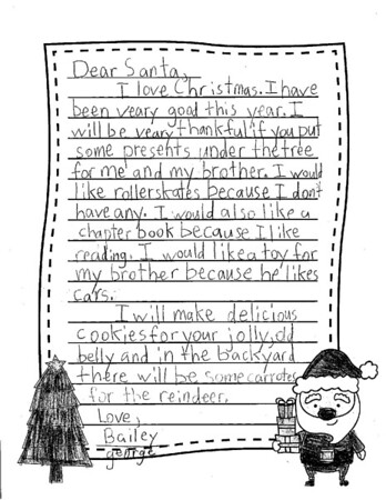 Mrs. Fife's Third Grade Letters to Santa