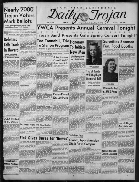 Daily Trojan, Vol. 37, No. 130, May 17, 1946