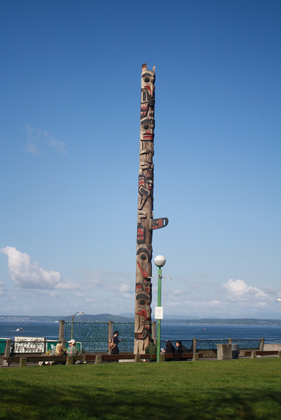 Our first totem pole - just outside Pike Place Market in Seattle.