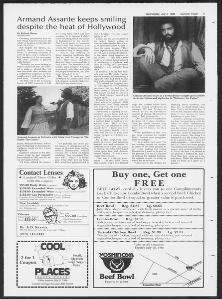 Summer Trojan, Vol. 101, No. 7, July 02, 1986