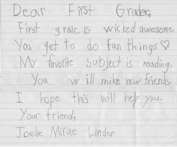 Dear 1st Grade