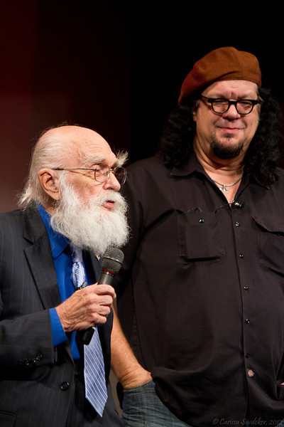 "Saturday Night Keynote Presentation: Penn & Teller - ""38 Years of Magic & BS""  ---- James Randi making a presentation to Penn & Teller"
