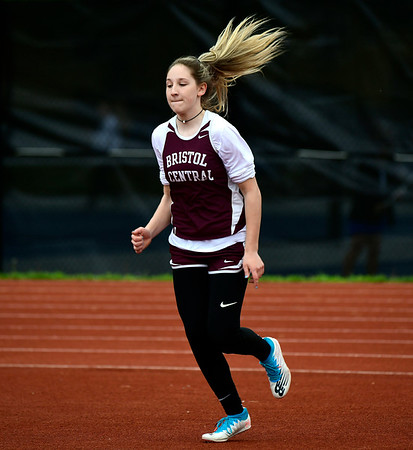 5/14/2019 Mike Orazzi | Staff Bristol Central's Jadyn Bauer during Tuesday's city track meet at Eastern.