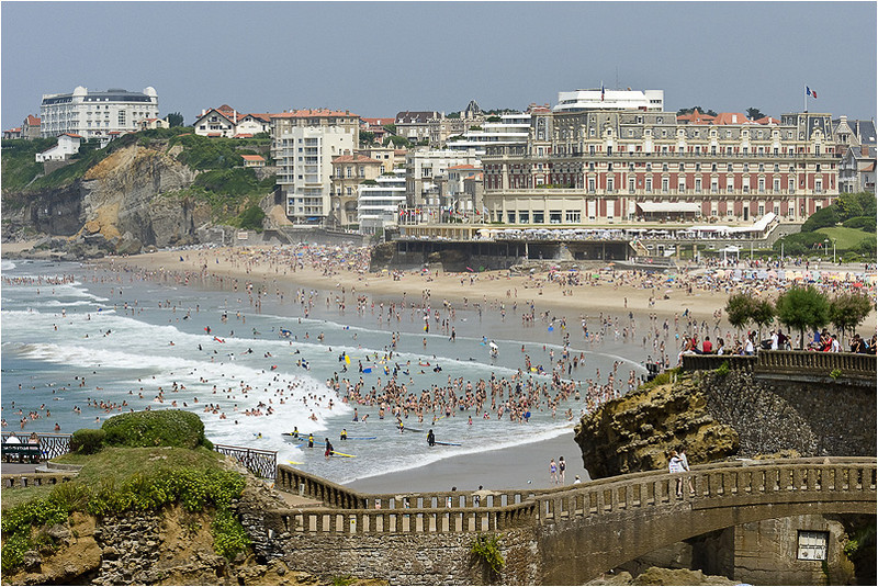 The Beach of Biarritz