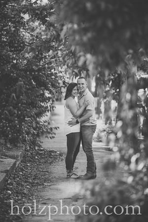 Sam & Shayne B/W Engagement Photos