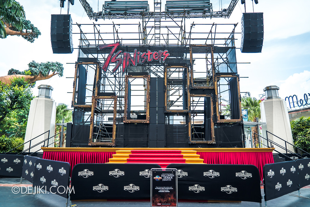 Halloween Horror Nights 7 Before Dark 2 Preview Update / Opening Scaremony Stage overview