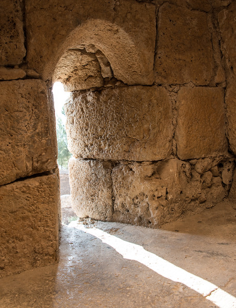 Arrow Slit. Ajloun Castle.  Near Ajloun, in northern Jordan.